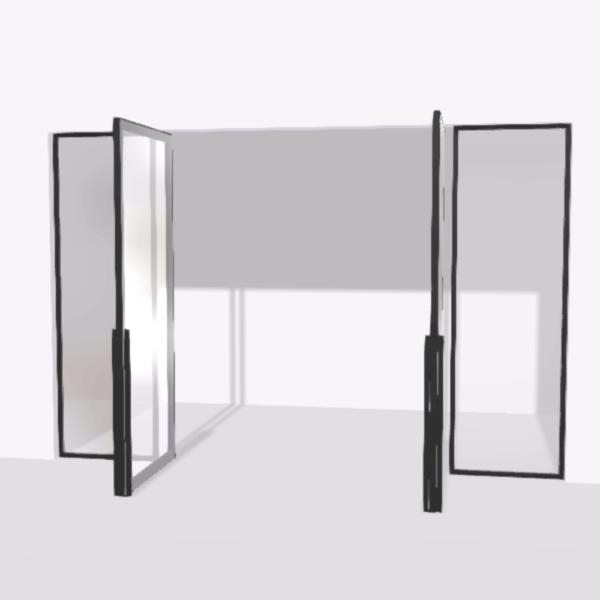 porta pivot 4245 drzwi dwuskrzydlowe z podwojna stala scianka dzialowa 1