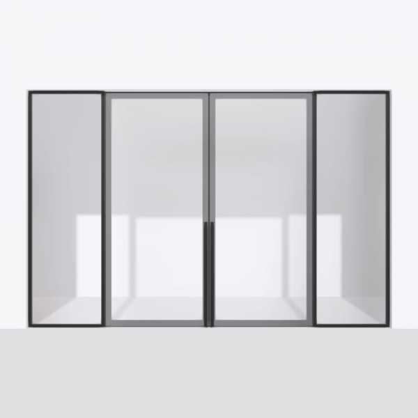 porta pivot 4245 drzwi dwuskrzydlowe z podwojna stala scianka dzialowa 2