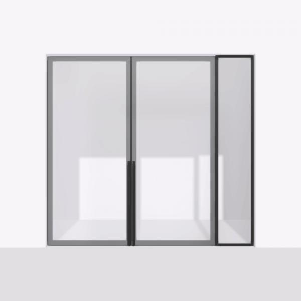 porta pivot 4245 drzwi dwuskrzydlowe z pojedyncza scianka dzialowa 1