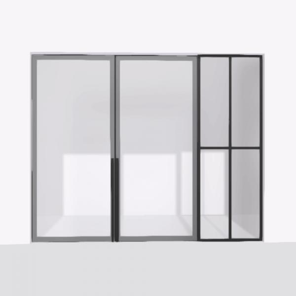 porta pivot 4245 drzwi dwuskrzydlowe z pojedyncza scianka dzialowa 10
