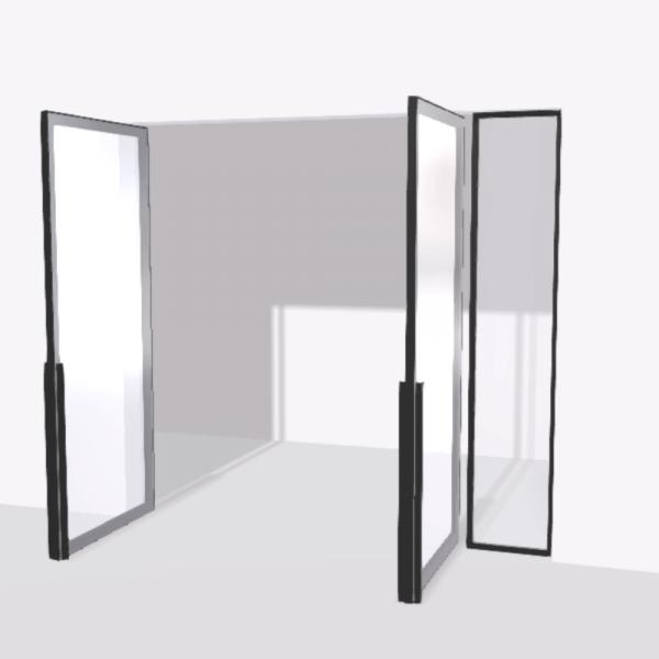 porta pivot 4245 drzwi dwuskrzydlowe z pojedyncza scianka dzialowa 2