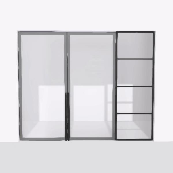 porta pivot 4245 drzwi dwuskrzydlowe z pojedyncza scianka dzialowa 8