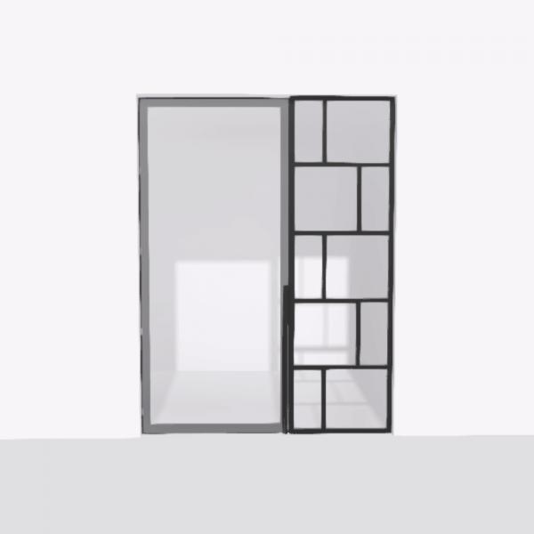 porta pivot 4245 drzwi pojedyncze ze stala scianka dzialowa 1