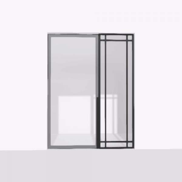porta pivot 4245 drzwi pojedyncze ze stala scianka dzialowa 3