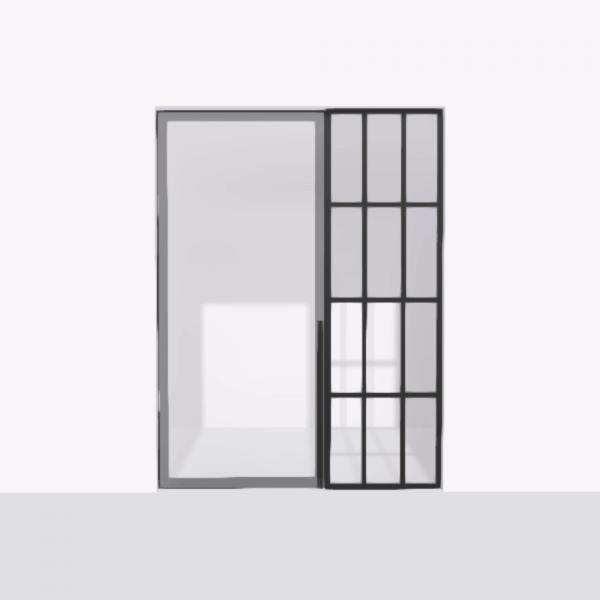 porta pivot 4245 drzwi pojedyncze ze stala scianka dzialowa 4