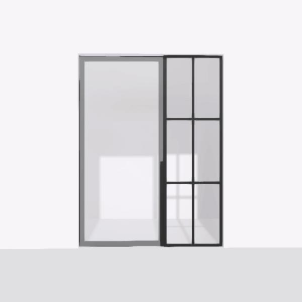 porta pivot 4245 drzwi pojedyncze ze stala scianka dzialowa 5