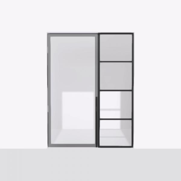 porta pivot 4245 drzwi pojedyncze ze stala scianka dzialowa 6