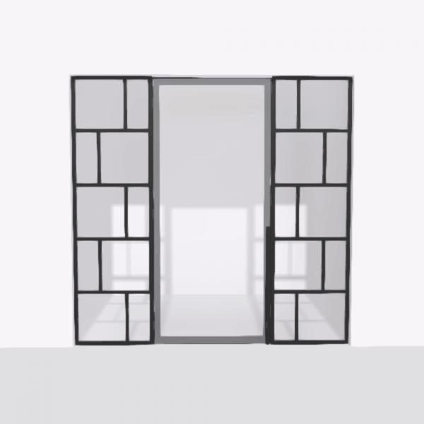 porta pivot 4245 drzwi pojedynke z podwojna stala scianka dzialowa 1