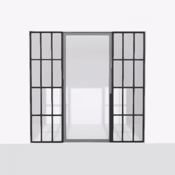 porta pivot 4245 drzwi pojedynke z podwojna stala scianka dzialowa 3