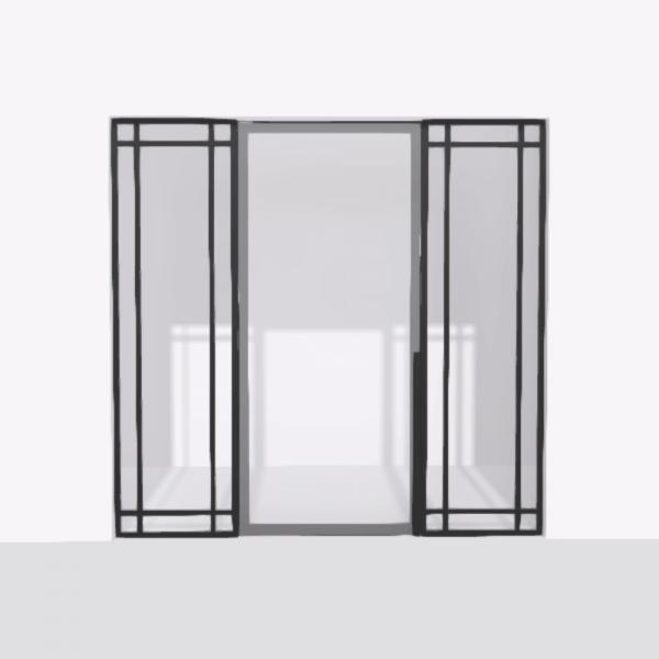 porta pivot 4245 drzwi pojedynke z podwojna stala scianka dzialowa 4