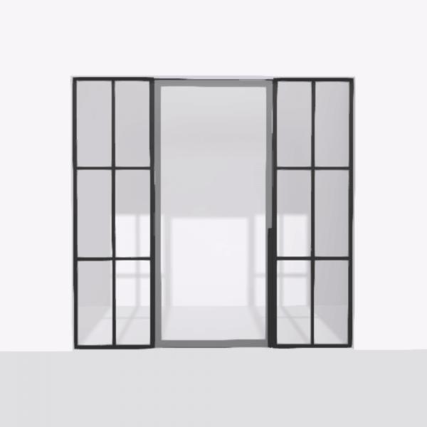 porta pivot 4245 drzwi pojedynke z podwojna stala scianka dzialowa 6