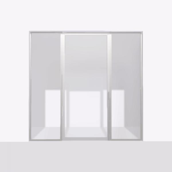 porta pivot 4245 drzwi pojedynke z podwojna stala scianka dzialowa 9 srebrne